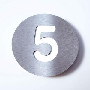 Absolut/ Radius Domovní číslo Round z nerezu - 5