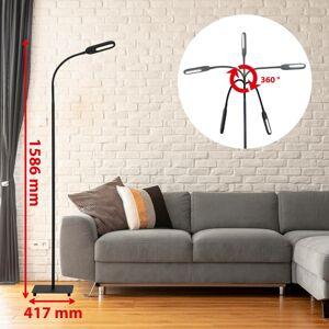 Briloner LED stojací lampa 1297-015 stmívatelná, černá