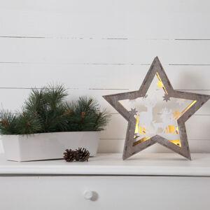 STAR TRADING Fauna LED dekorativní světlo ze dřeva, výška 32 cm