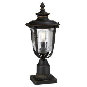 Elstead Soklové světlo Luverne s rýhovaným sklem