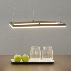 Fabas Luce LED závěsné světlo Bard 42x42 cm, antracit