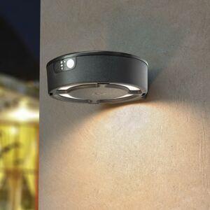 Fumagalli LED solární svítidlo Fortunato černé CCT senzor