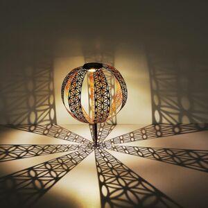 Globo Solární dekorační světlo 33646R květina, rezavá
