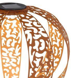 Globo Solární dekorační světlo 33647R rezavě hnědá
