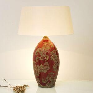 J. Holländer Stolní lampa Toulouse kulatá, výška 65 cm, červená