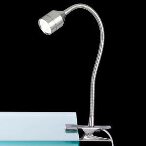 FISCHER & HONSEL LED světlo se svorkou Lovi, lankový vypínač, nikl