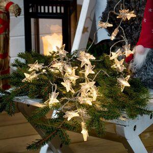 Konstmide CHRISTMAS Venkovní světelný řetěz hvězdy 80 LED baterie