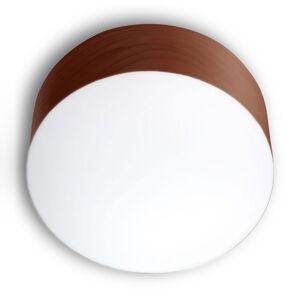 LZF LamPS LZF Gea stropní světlo 0-10V stmívač, Ø30cm, hnědá