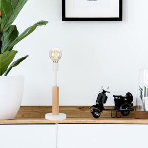 EULUNA Stolní lampa Parc s jednou paticí, bílé