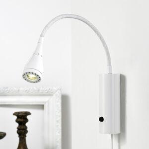 Nordlux LED nástěnné světlo Mento s ohebným ramenem, bílé