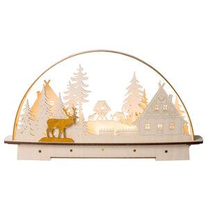 Saico LED světelný oblouk Lesní chaloupka, na baterie