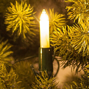 Saico Světelný řetěz s malými svíčkami, bílé, 30 zdrojů