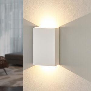 Lindby LED nástěnné světlo Fabiola ze sádry, výška 16 cm