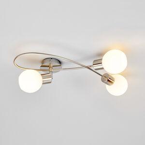 Lindby Stropní LED osv. Elaina, 3bod, podélná,nikl matný