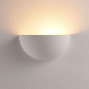 Lindby Polokruhová LED lampa Narin ze sádry, bílá