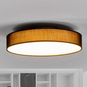 Lindby LED textilní stropní lampa Saira, 40 cm, černá