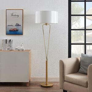 Lucande Lucande Gyda látková stolní lampa, mosaz matný