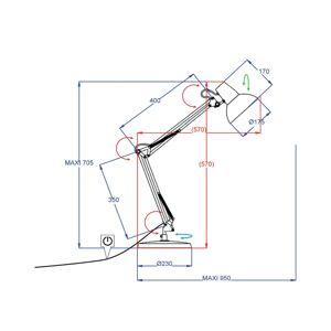 Aluminor Aluminor Calypsa stolní lampa, bílá