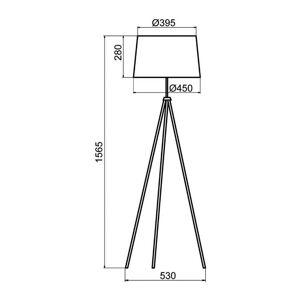 Aluminor Aluminor Tropic stojací lampa chrom, kabel červený