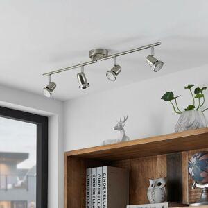 ELC ELC Simano LED stropní reflektor, nikl, 4 zdroje