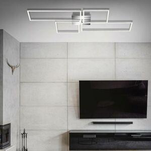 Briloner LED stropní světlo Frame CCT chrom-hliník 110x54cm