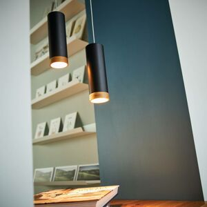 Domus LED závěsné světlo PHEB, černá/dub