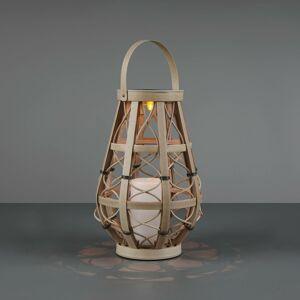 Reality Leuchten LED solární lampa Vinto, baterie, béžová, 27 cm