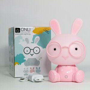 EULUNA LED stolní lampa Bunny do dětského pokoje, růžová