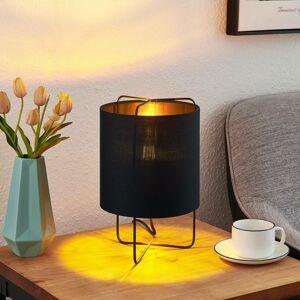Lindby Lindby Kesta stolní lampa, černozlatá, 32 cm