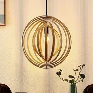 Lindby Lindby Tiagon závěsné světlo, překližka, přírodní