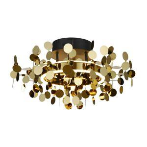 Lucande Lucande Glimmo LED stropní světlo, černé, mosaz