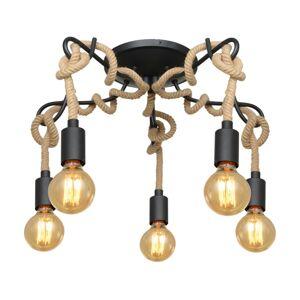 Lucande Lucande Ropina stropní světlo, pětižárovkové