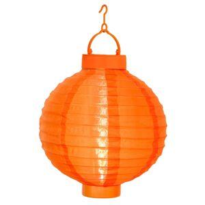 STAR TRADING Oranžový solární lampion Jerrit s LED světlem