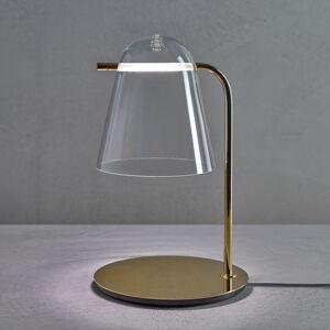 PRANDINA Prandina Sino T3 LED stolní lampa čirá/zlatá