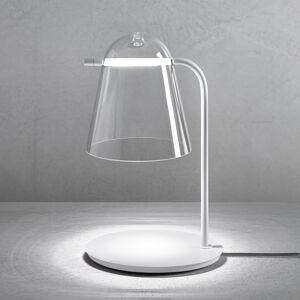 PRANDINA Prandina Sino T3 LED stolní lampa čirá/bílá matná