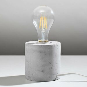 EULUNA Stolní lampa Akira z betonu ve tvaru válce
