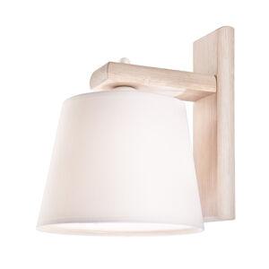 EULUNA Nástěnné světlo Sweden s dřevěným rámem, bílá