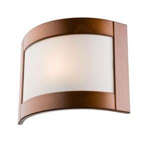 EULUNA Nástěnné světlo Zanna ze dřeva, 22 cm rustikální
